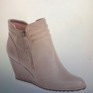 Biala Ashton leather wedge Ankle Bootie Taupe